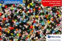 Preciosa czech seed beads mix 11-12-15/0, ~50g