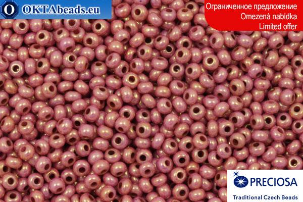 Прециоза чешский бисер розовый золотой глянец 10/0, ~50гр 2CR062