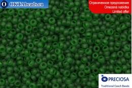 Preciosa czech seed beads green matte 11/0, ~50g 2CR023