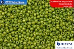 Preciosa czech seed beads green gold luster 10/0, ~50g