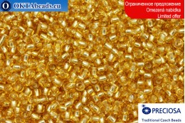 Прециоза чешский бисер желтый с прокрасом серебром 10/0, ~50гр 2CR021