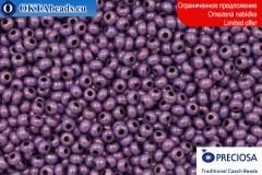 Preciosa český rokajl fialový zlatý lesk 10/0, ~50g