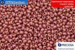 Preciosa český rokajl růžový zlatý lesk 10/0, ~50g