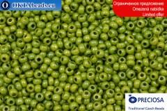 Preciosa český rokajl zelený zlatý lesk 10/0, ~50g