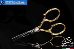 Embroidery Scissors Premax 24k Gold Plated 9cm premax-019