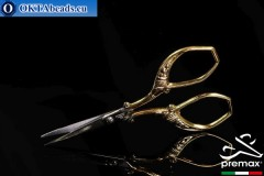 Embroidery Scissors Premax 24k Gold Plated 9cm