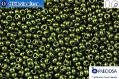 Прециоза чешский бисер 1 сорт зеленый металлик 10/0, 50гр specPR0011