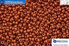 Прециоза чешский бисер 1 сорт коричневый золотой глянец 10/0, 50гр