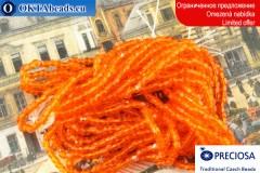 Preciosa 3CUT beads orange ~14/0, ~6,2g