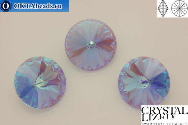 1122 SWAROVSKI Rivoli Chaton - CC Blue Violet 12мм, 1шт sw317