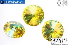 1122 SWAROVSKI Rivoli Chaton - CC Crystal Lemon 14мм, 1шт sw004