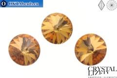 1122 SWAROVSKI Rivoli Chaton - CC Terra Gold 14mm, 1ks sw370