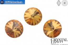 1122 SWAROVSKI Rivoli Chaton - CC Terra Gold 14mm, 1pc sw370