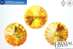 1122 SWAROVSKI Rivoli Chaton - CC Ultra Orange AB 14мм, 1шт sw059
