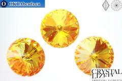 1122 SWAROVSKI Rivoli Chaton - CC Ultra Orange AB 14мм, 1шт