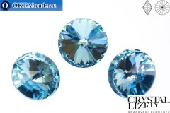 1122 SWAROVSKI Rivoli Chaton - Aquamarine ss47 (~10mm), 1ks