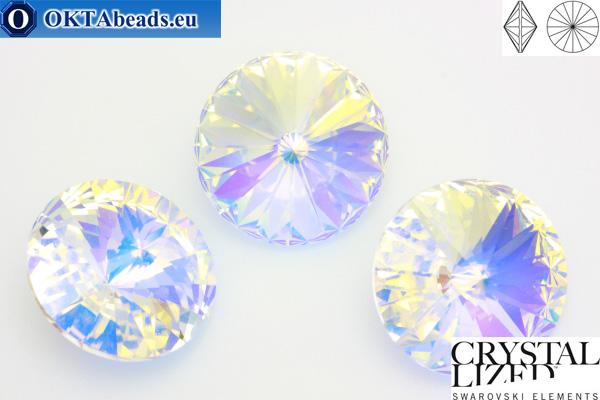 1122 SWAROVSKI Rivoli Chaton - Crystal AB Unfoiled ss47 (~10mm), 1ks sw383