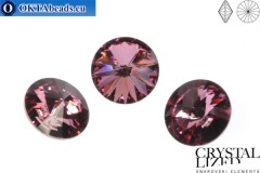 1122 SWAROVSKI Rivoli Chaton - Crystal Antique Pink 12mm, 1ks