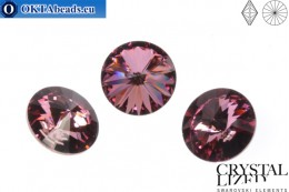 1122 SWAROVSKI Rivoli Chaton - Crystal Antique Pink 12mm, 1pc sw172