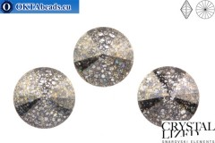 1122 SWAROVSKI Rivoli Chaton - Crystal Black Patina 12mm, 1ks