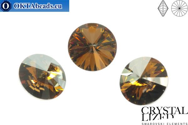 1122 SWAROVSKI Rivoli Chaton - Crystal Bronze Shade 12mm, 1ks