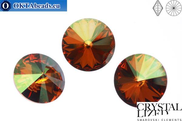 1122 SWAROVSKI Rivoli Chaton - Crystal Copper 12mm, 1pc sw014