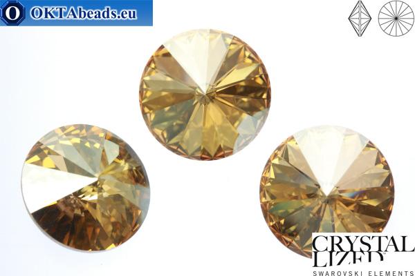 1122 SWAROVSKI Rivoli Chaton - Crystal Golden Shadow 12mm, 1ks sw197
