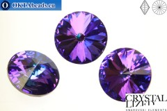 1122 SWAROVSKI Rivoli Chaton - Crystal Heliotrope 18mm, 1pc