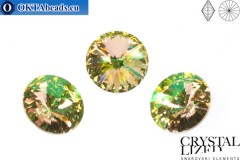 1122 SWAROVSKI Rivoli Chaton - Crystal Luminous Green ss47 (~10mm), 1pc sw224