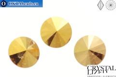 1122 SWAROVSKI Rivoli Chaton - Crystal Metallic Sunshine 14мм, 1шт