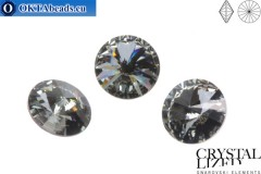1122 SWAROVSKI Rivoli Chaton - Crystal Silver Night 18mm, 1ks