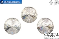 1122 SWAROVSKI Rivoli Chaton - Crystal Silver Patina 14mm, 1ks