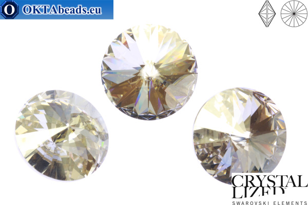 1122 SWAROVSKI Rivoli Chaton - Crystal Silver Shade 16mm, 1ks