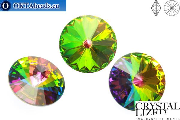 1122 SWAROVSKI Rivoli Chaton - Crystal Vitrail Medium 16мм, 1шт sw186