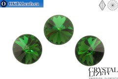 1122 SWAROVSKI Rivoli Chaton - Dark Moss Green 14mm, 1ks