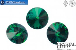 1122 SWAROVSKI Rivoli Chaton - Emerald 18mm, 1pc sw146