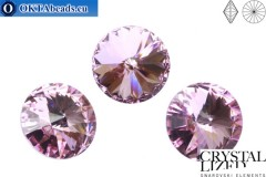 1122 SWAROVSKI Rivoli Chaton - Light Amethyst 14mm, 1ks