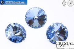 1122 SWAROVSKI Rivoli Chaton - Light Sapphire ss47 (~10мм), 1шт