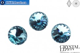 1122 SWAROVSKI Rivoli Chaton - Light Turquoise 12mm, 1pc sw189