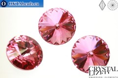 1122 SWAROVSKI Rivoli Chaton - Rose 14mm, 1ks