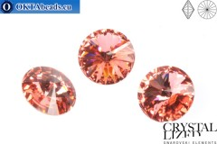 1122 SWAROVSKI Rivoli Chaton - Rose Peach 14mm, 1ks