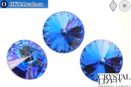 1122 SWAROVSKI Rivoli Chaton - Sapphire 12mm, 1pc sw115