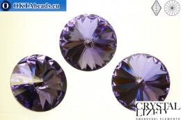 1122 SWAROVSKI Rivoli Chaton - Tanzanite 12mm, 1pc sw121