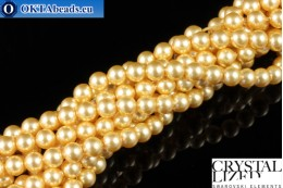 Swarovski crystal pearls Crystal Gold Pearl (296) 4mm,1pc SWpearl-032