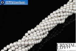Swarovski crystal pearls Crystal Iridescent Dove Grey Pearl 4mm, 1pc SWpearl-014