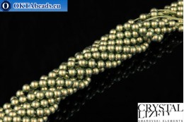 Swarovski crystal pearls Crystal Iridescent Green Pearl 4mm, 1pc SWpearl-008