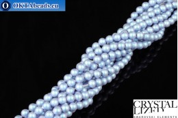 Swarovski crystal pearls Crystal Iridescent Light Blue Pearl 4mm, 1pc SWpearl-012
