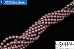 Swarovski crystal pearls Crystal Iridescent Red Pearl 4mm, 1pc SWpearl-011