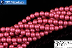 Swarovski хрустальный жемчуг Crystal Mulberry Pink Pearl (2018) 4мм,1шт