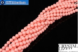 Swarovski crystal pearls Crystal Pink Coral Pearl 4mm, 1pc SWpearl-004